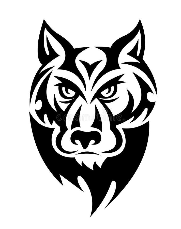dziki wilk ilustracji