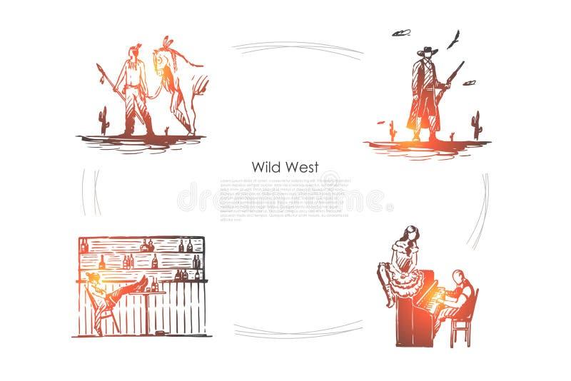 Dziki zach ilustracji