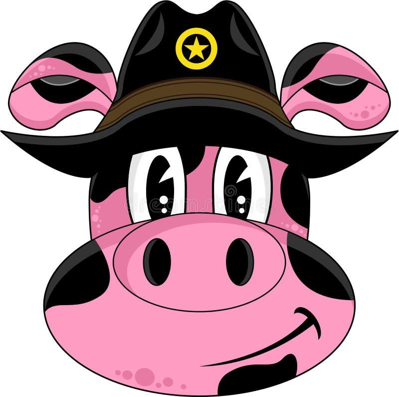 Dziki Zachodni Świniowaty kowboj ilustracja wektor