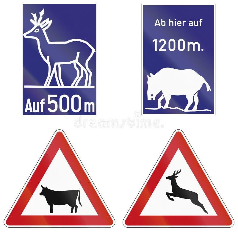 Dzikich Zwierząt Krzyżować Podpisuje Wewnątrz Niemcy ilustracji
