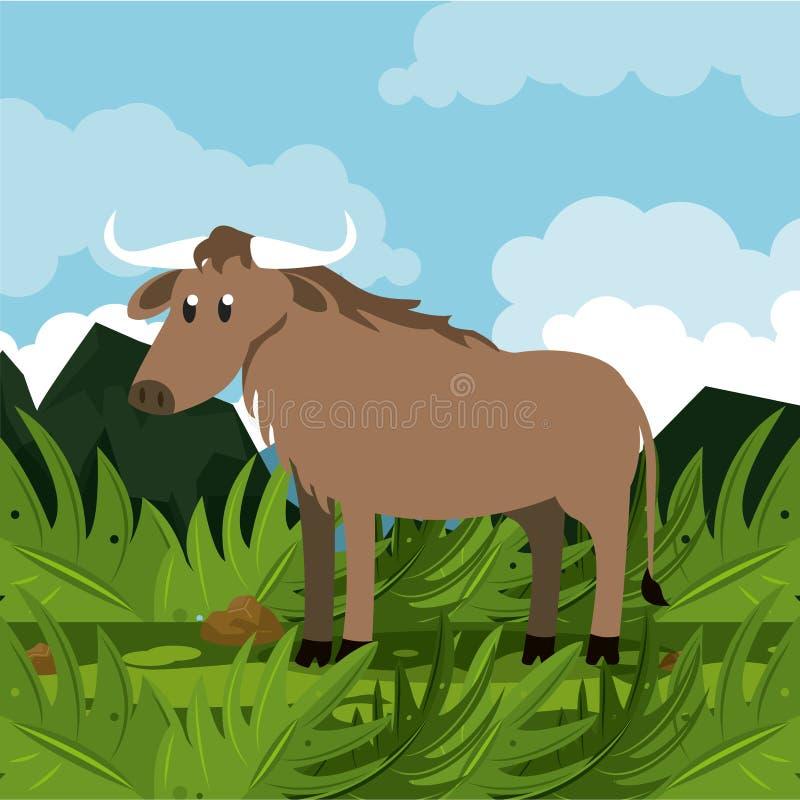 Dzikie afrykańskie zwierzę kreskówki ilustracji