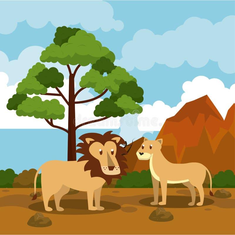 Dzikie afrykańskie zwierzę kreskówki royalty ilustracja