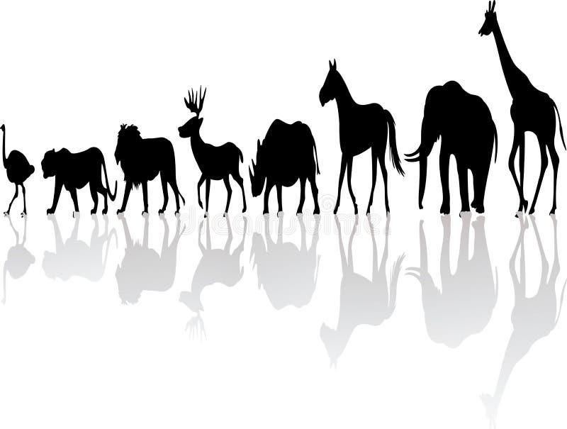 Dzikie zwierzę sylwetka royalty ilustracja