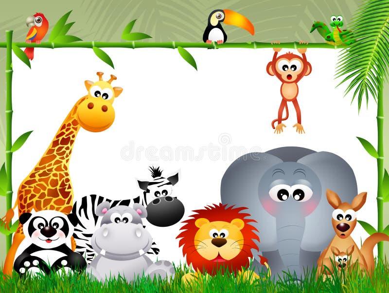 Dzikie zwierzęta w dżungli royalty ilustracja
