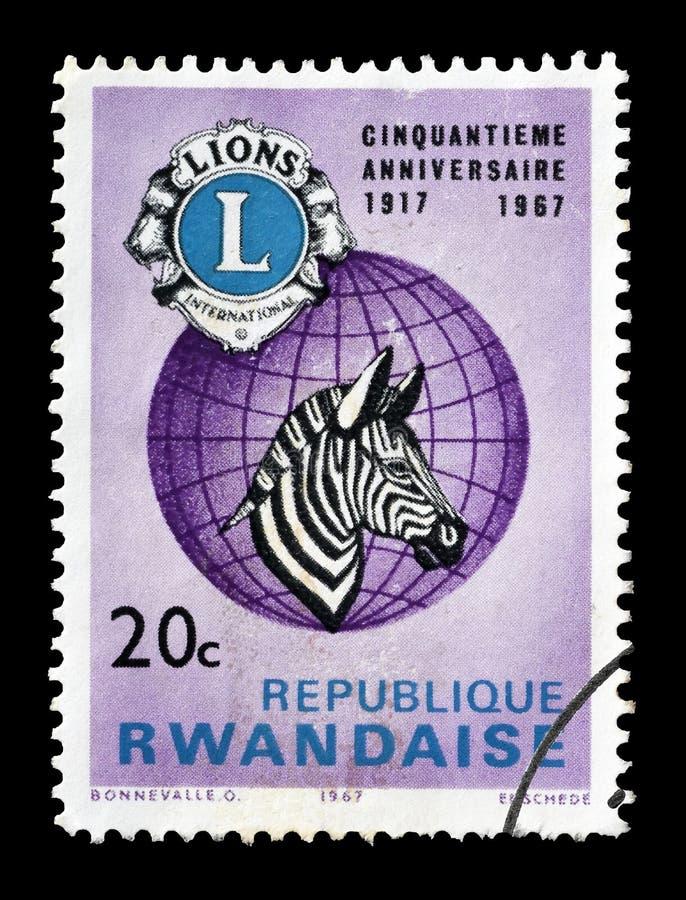 Dzikie zwierz?ta na znaczkach pocztowych obrazy royalty free