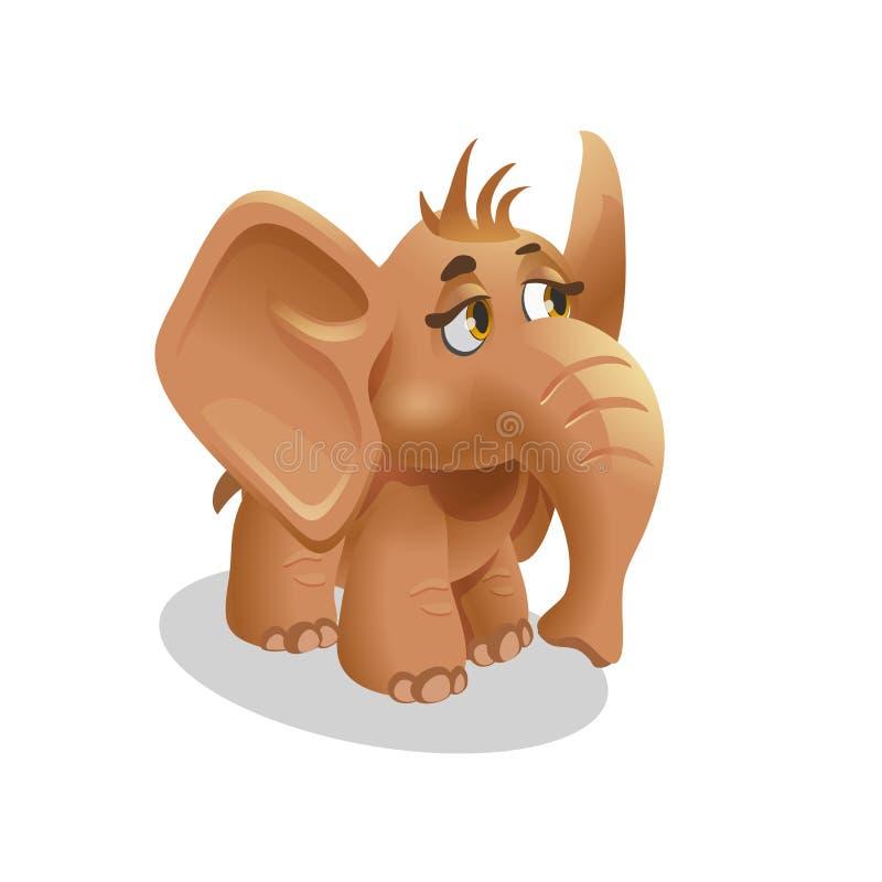 Dzikiego zwierzęcia dziecka śliczny słoń w isometric stylu dla zoo również zwrócić corel ilustracji wektora ilustracji