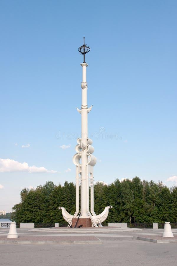 Dziobowa kolumna na admiralicja kwadracie fotografia stock