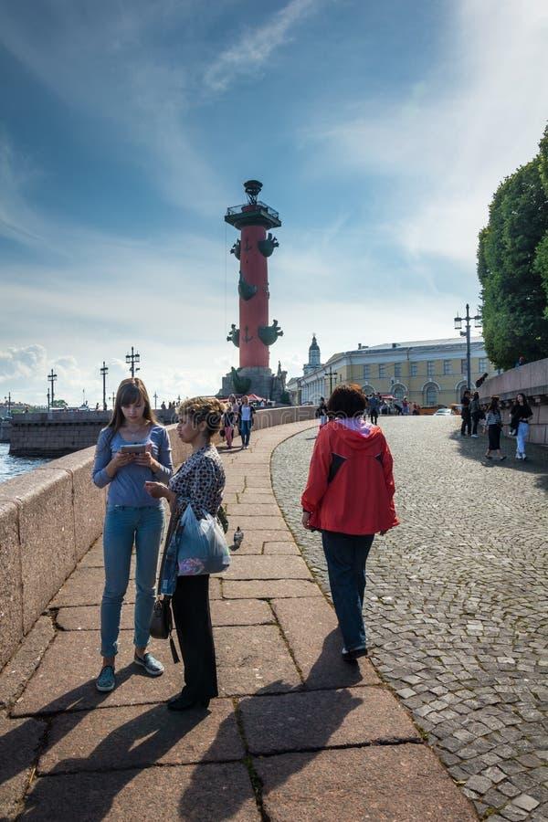 Dziobowa kolumna w świętym Petersburg, Rosja obrazy royalty free