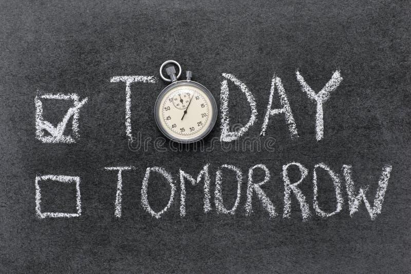 Download Dzisiaj vs jutro zdjęcie stock. Obraz złożonej z metafora - 53780150