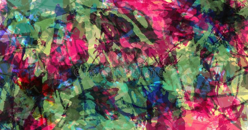 Dzisiejsza ustawa grunge kolorowa tekstura Brushstrokes farba rozbryzguje si? farby fotografia royalty free