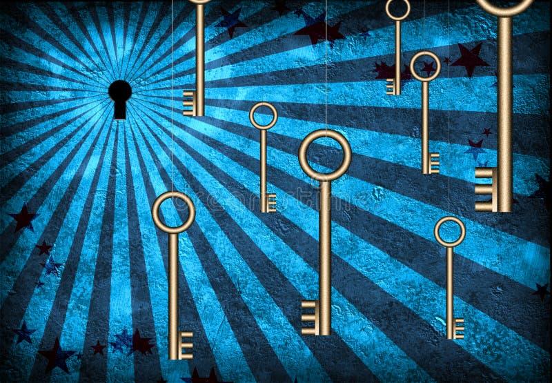 dziura klucza klucze ilustracji