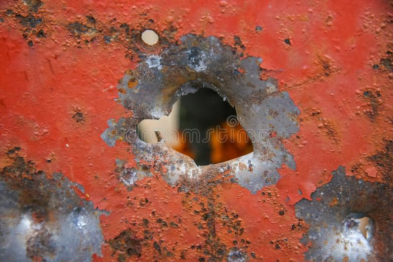 Dziura od kanisteru twelfth kaliber obrazy stock