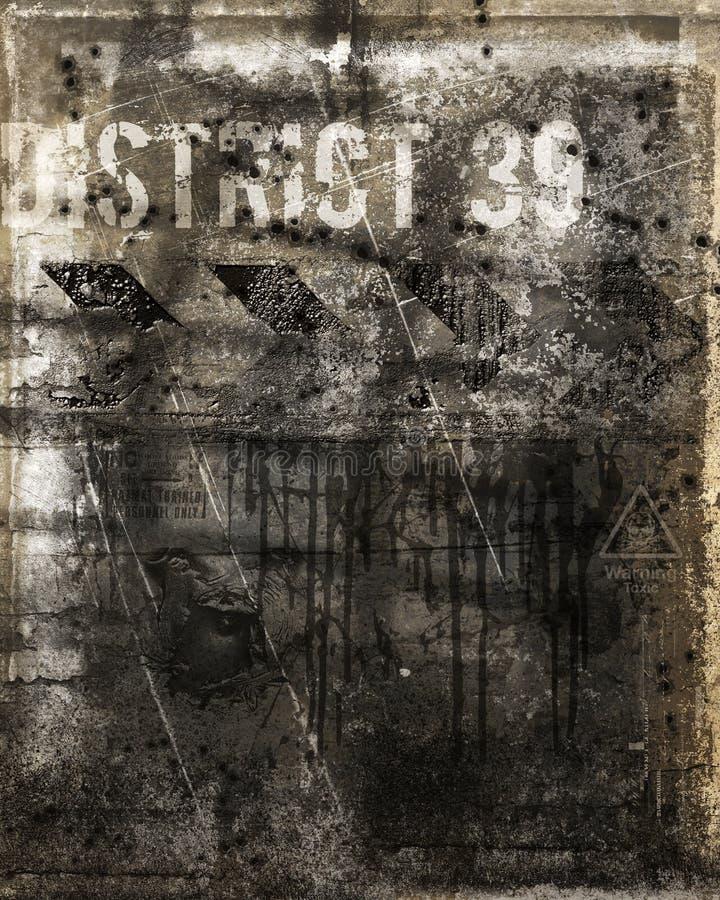 dziura po kuli ściana ilustracji