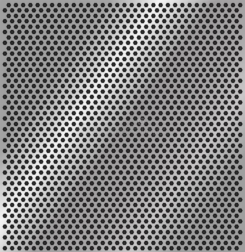 Dziurkowata stalowa tekstura również zwrócić corel ilustracji wektora ilustracji