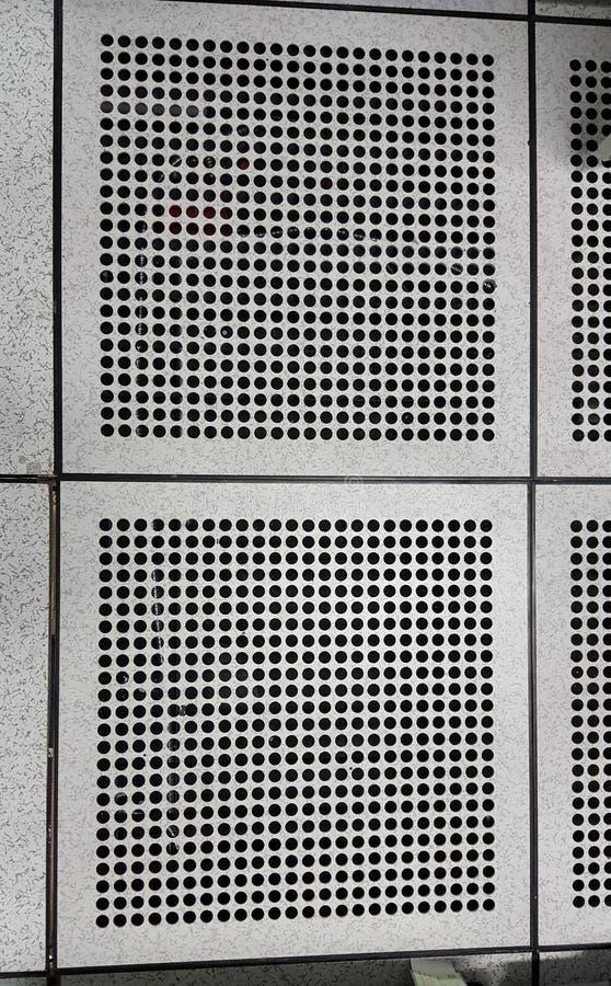 Dziurkowaty Airflow panel obrazy stock