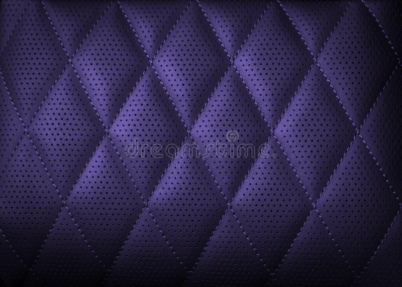 Dziurkowaty rzemienny tekstury tło dla projekta, zmrok - błękit ilustracja wektor