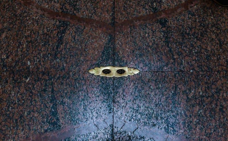 Dziury dla drenażu w marmurowej podłodze panteon sławna Romańska świątynia fotografia royalty free