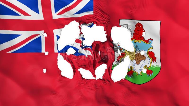 Dziury w Bermuda fladze ilustracji