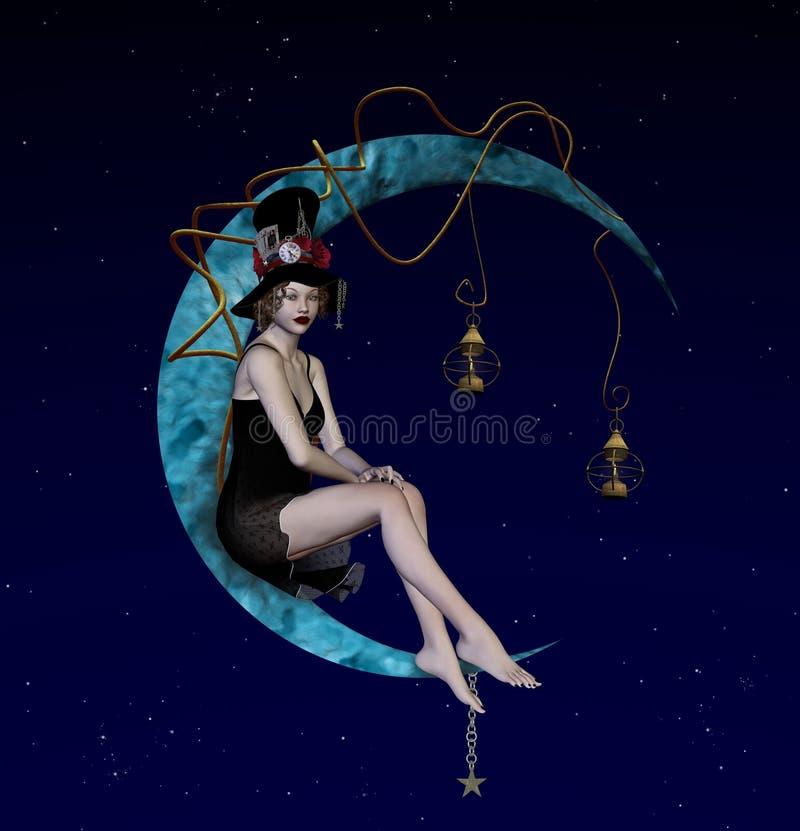 dziwaczna noc ilustracji