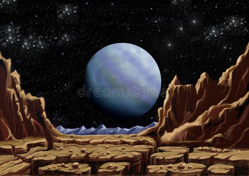 Dziwaczna planeta royalty ilustracja
