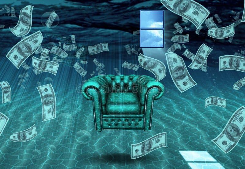 Dziwaczna Podwodna scena ilustracja wektor