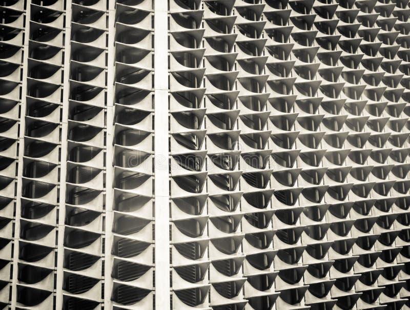 Dziwaczny budynku zbliżenie zdjęcie stock