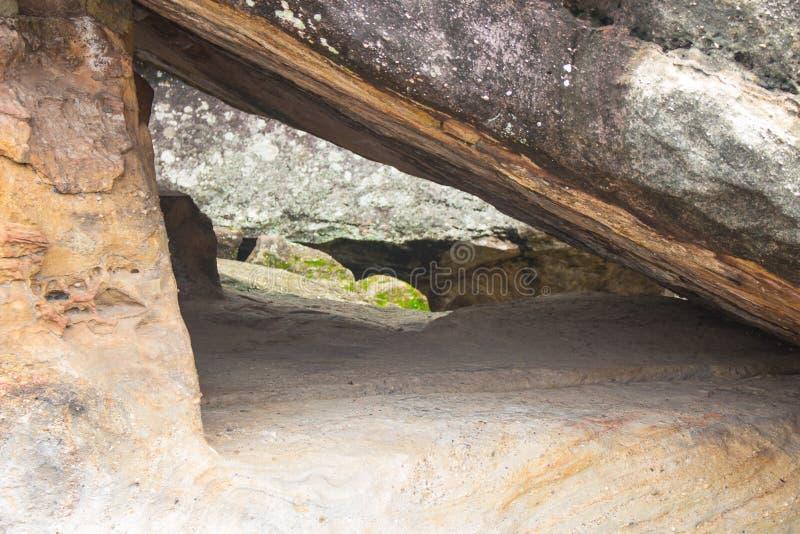 Dziwaczny kamień, phu phra skąpanie, Udonthani, Tajlandia obraz stock