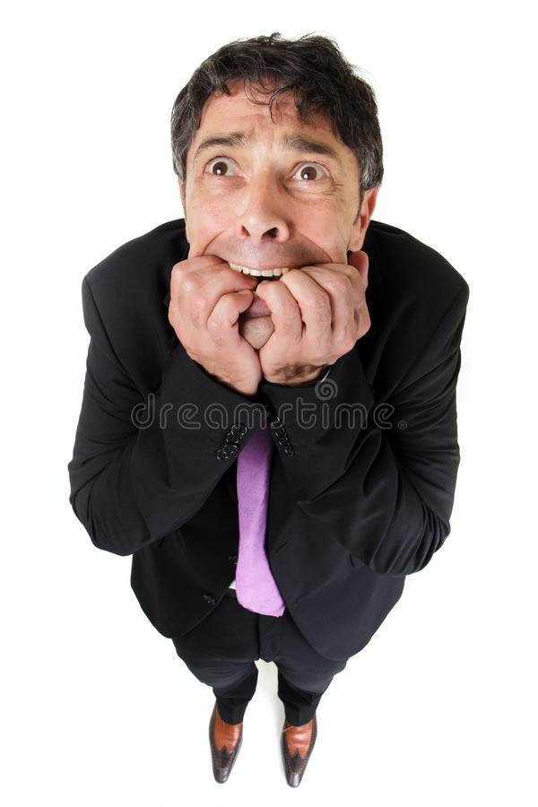 Dziwaczny portret straszny mężczyzna fotografia royalty free