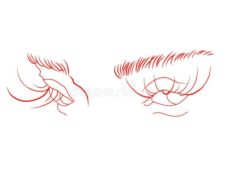 Dziwaczny spojrzenie czerwoni oczy zdjęcie royalty free