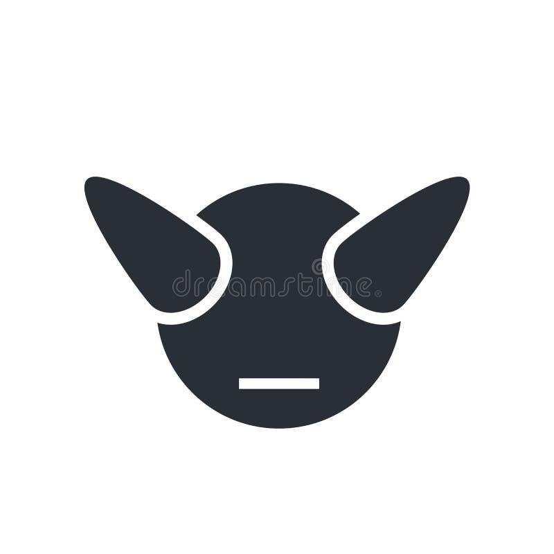 Dziwożony ikony wektoru znak i symbol odizolowywający na białym tle ilustracji