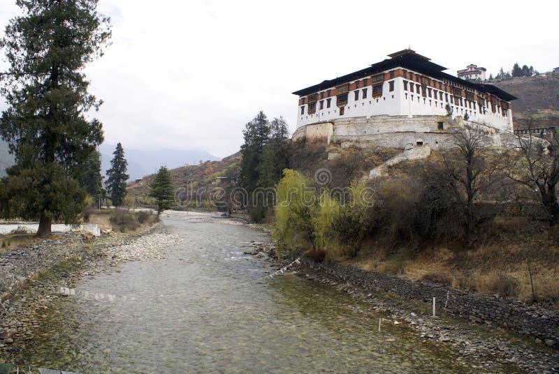 dzong paro rinpung 免版税库存照片