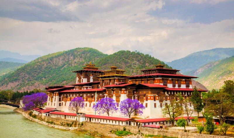 dzong pumakha 免版税库存图片