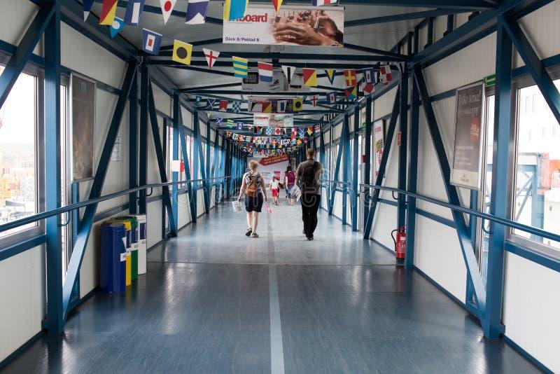 Dzwi otwarty na promu Stena duchu. zdjęcie stock