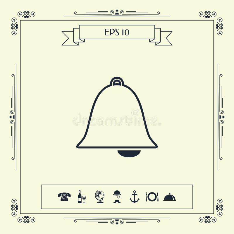 Dzwon alarmowy ikona ilustracja wektor