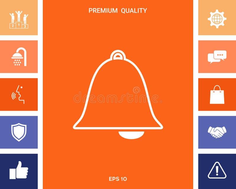 Dzwon alarmowy ikona ilustracji