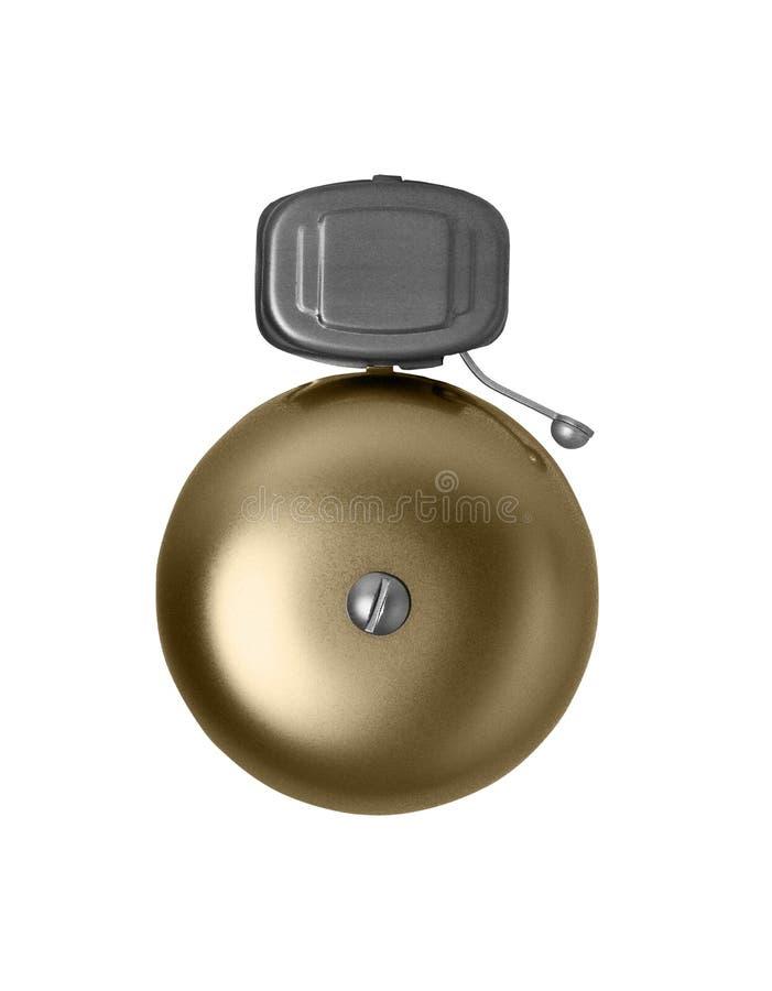 Dzwon alarmowy odizolowywający na bielu obrazy stock