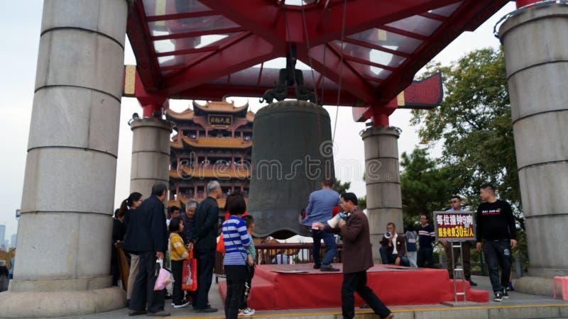 Dzwonek milenijny w świątyni Żółtych Żuraw w Chinach zdjęcie royalty free