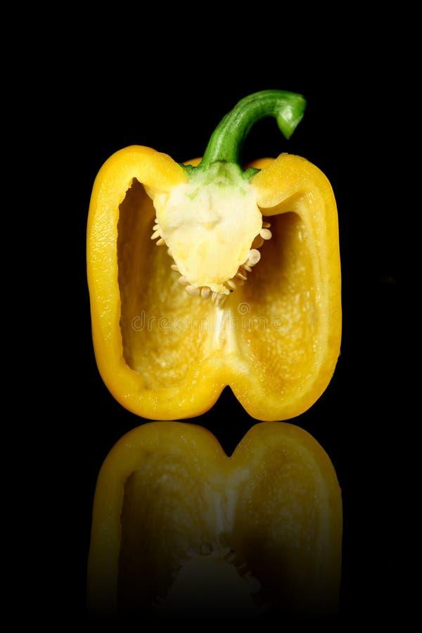 dzwonek, pepper przekrawający żółty zdjęcia royalty free