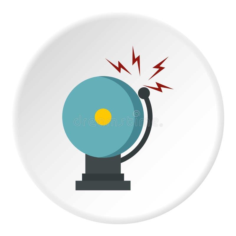 Dzwonić pożarniczego dzwon alarmowy ikony okrąg ilustracja wektor