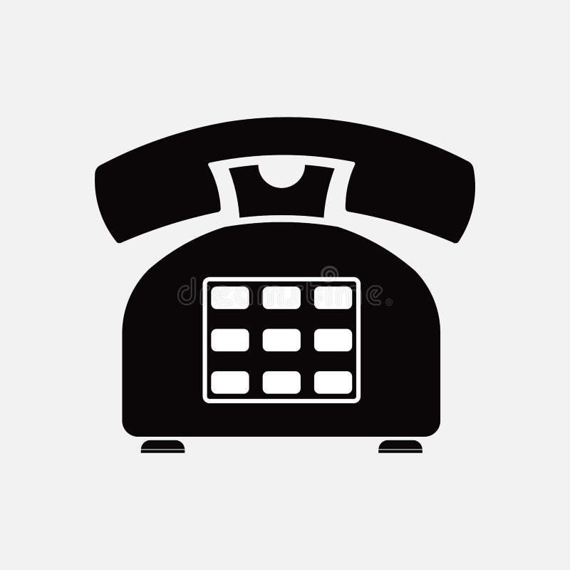 Dzwoni ikonę retro, stary, sposoby komunikacja ilustracji