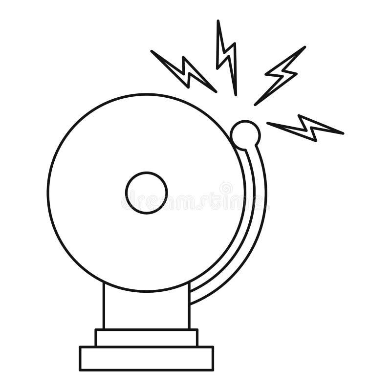 Dzwonienie dzwonu alarmowego ikona, konturu styl ilustracja wektor
