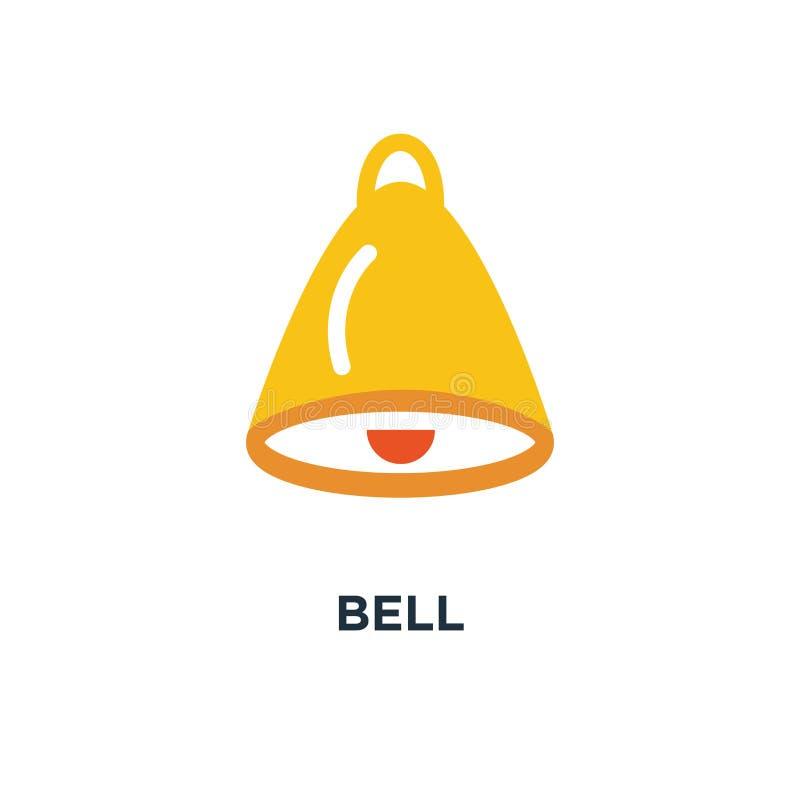 Dzwonkowa ikona alarmowy pojęcie symbolu projekt, raźny wektorowy illustratio ilustracja wektor