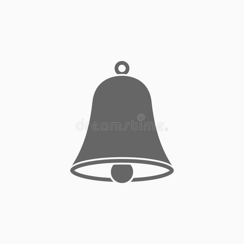 Dzwonkowa ikona, doorbell, brzęczyk, handbell, pęka dźwięka royalty ilustracja