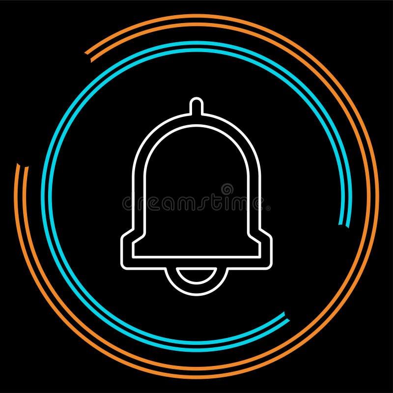 Dzwonkowa ikona, wektoru alarm, raźny symbol royalty ilustracja