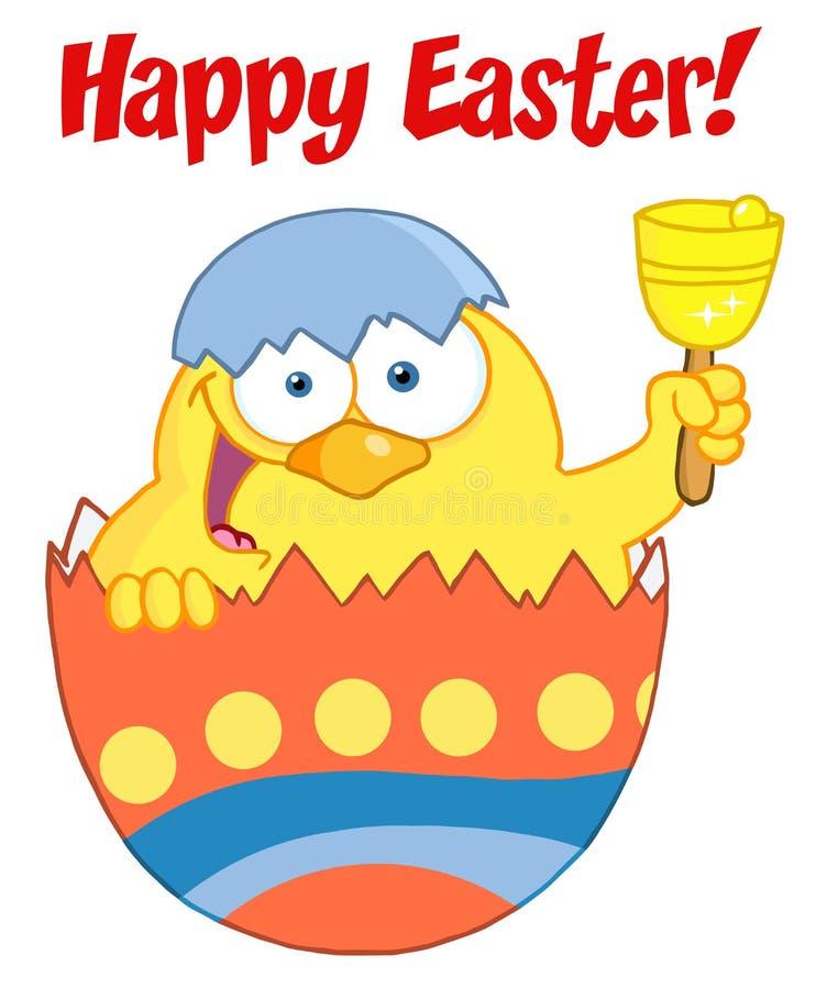 dzwonkowa pisklęca Easter szczęśliwa dzwonienia skorupa ilustracji