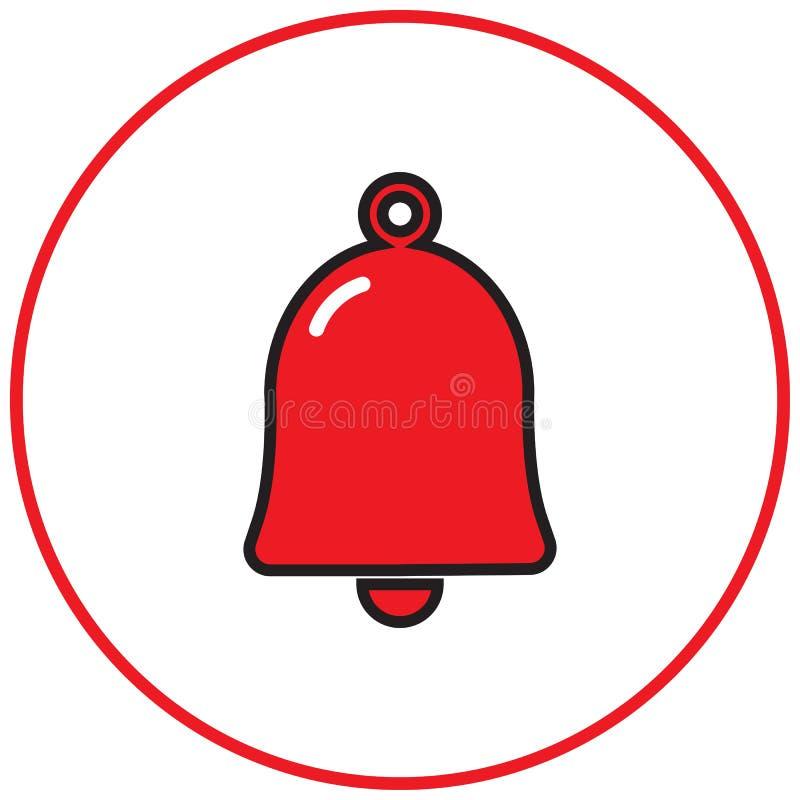 Dzwonkowa wektorowa ikona ilustracji