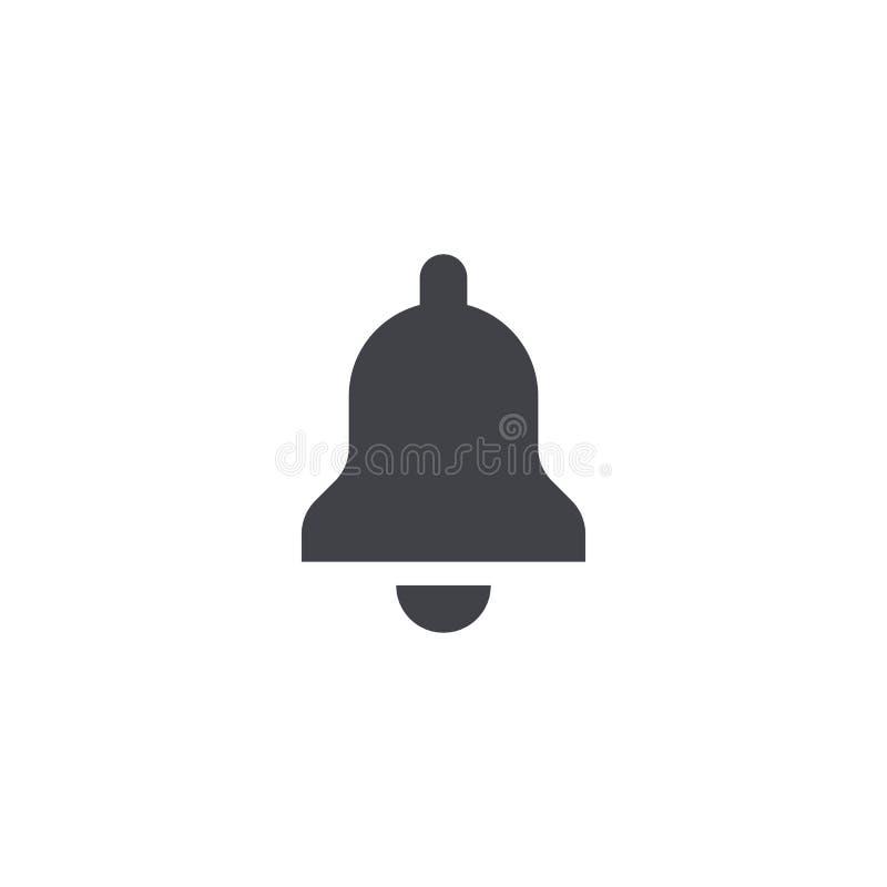 Dzwonkowa wektorowa ikona Dzwonkowego kształta symbol Powiadomienie znak Alarmowego sygnału guzik dzwonkowy łatwy redaguje dżwięc ilustracji