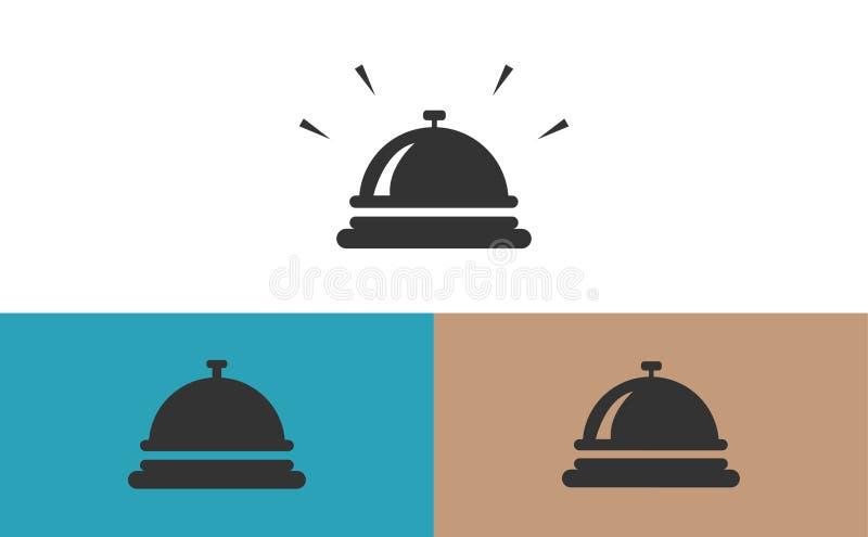 Dzwonkowe concierge ikony obrazy stock