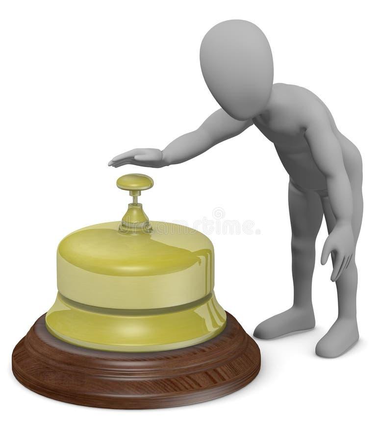 dzwonkowego postać z kreskówki wielcy recepcyjni pierścionki ilustracji
