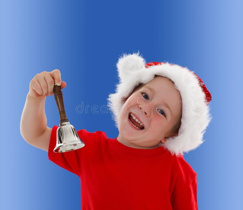 dzwonkowej dziecka ręki szczęśliwy dzwonienie fotografia stock
